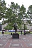 Boston mor, 30th Juni: John Singleton Copley Statue i den Copley fyrkanten från Boston i det Massachusettes tillståndet av USA arkivbilder