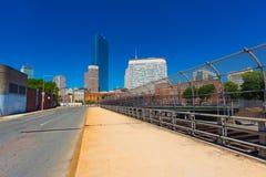 Boston MOR, USA: Sikt av kommersiella byggnader i i stadens centrum Boston Royaltyfria Bilder
