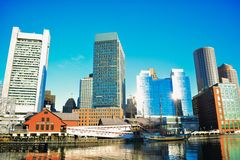 Boston morgon Arkivfoto