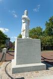 Boston nabrzeża parka Colombus statua zdjęcie stock