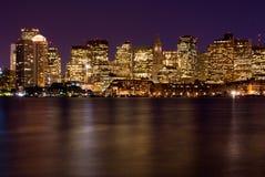 Boston nachts Lizenzfreie Stockfotografie