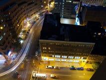 Boston-Nachtstraßen Stockfotos