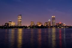 Boston at Night Stock Image