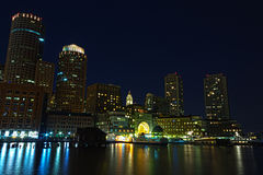 Boston by night Stock Images