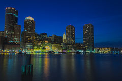 Boston by night Royalty Free Stock Image
