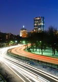 Boston at night stock images