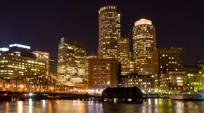 Boston at Night Stock Photography