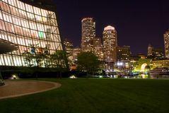 Boston at Night Royalty Free Stock Photography