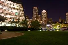 boston night Στοκ φωτογραφία με δικαίωμα ελεύθερης χρήσης