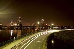 Boston at Night Stock Images