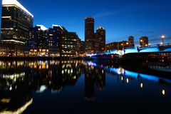 Boston night Royalty Free Stock Photography