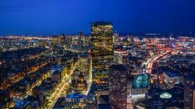boston night skyline Στοκ Εικόνες