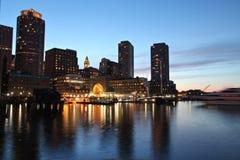 Boston night skyline Royalty Free Stock Photography