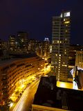 Boston Night Streets Royalty Free Stock Photography