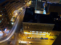 Boston Night Streets Stock Photos