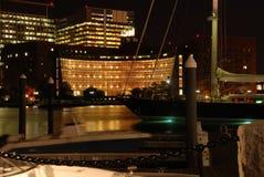 Boston night view. Night shot of Harbour of Boston Royalty Free Stock Image