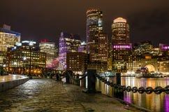 Boston at Night Stock Photos