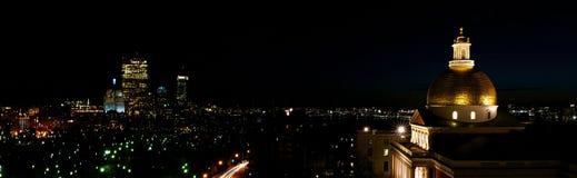 boston nocy panorama zdjęcia stock