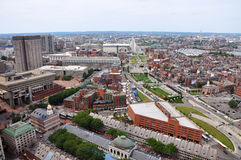 Boston North End, Boston, USA. Aerial view of Boston North End, Old North Church and Italian Community, Boston, USA royalty free stock image