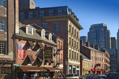 Boston North End restaurants Stock Image
