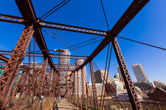 Boston Northern Avenue Bridge in Massachusetts Royalty Free Stock Image