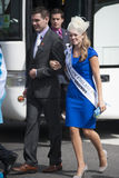 Boston Nouvelle Angleterre Rose et son escorte Photos libres de droits