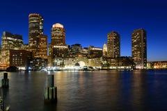 Boston Obyczajowy dom przy nocą, usa Obraz Royalty Free