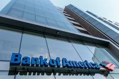 Bank of America branch stock photography