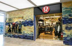 Lululemon store. Boston, October 28, 2017: Entrance to a Lululemon store inside Prudential Center in Boston Royalty Free Stock Photo