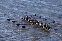 BOSTON - OCTOBER 23, 2016: West Point Academy races in the Head of Charles Regatta Women's Collegiate Eights Stock Photography
