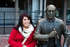 Boston offentlig staty Arkivfoton