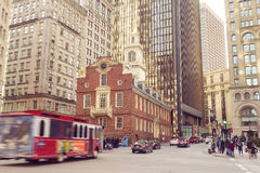 Boston Old State House buiding in Massachusetts Royalty Free Stock Photos