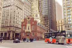 Boston Old State House buiding in Massachusetts Royalty Free Stock Images