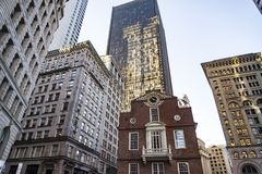 Boston Old State House building Stock Photography