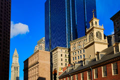 Boston Old State House in Massachusetts Stock Photos