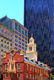 Boston Old State House in Massachusetts Stock Image