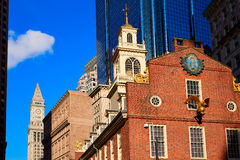 Boston Old State House in Massachusetts Royalty Free Stock Photography