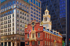 Boston Old State House in Massachusetts Royalty Free Stock Images
