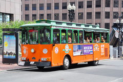 Boston Old Town Trolley Tours Royalty Free Stock Photo