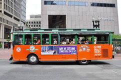 Boston Old Town Trolley Tours Royalty Free Stock Photography