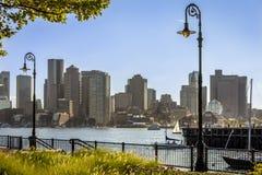 boston område i stadens centrum finansiella massachusetts USA Arkivbilder
