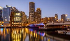 boston område i stadens centrum finansiella massachusetts USA Fotografering för Bildbyråer