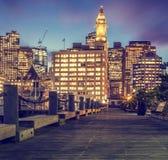 boston område i stadens centrum finansiella massachusetts USA Royaltyfria Foton