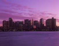 Boston, orizzonte di mA Immagini Stock