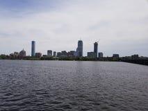 Boston over Charles stock foto