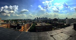 Boston. Panoramic city skyline Royalty Free Stock Images