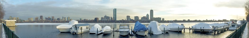 Boston Panoramic View Stock Photography