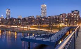 Boston. Panoramic view of Boston in Massachusetts, USA showcasing its historic buildings at sunset Stock Photos