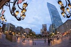 Boston. Panoramic view of Boston in Massachusetts, USA at sunset Stock Photo