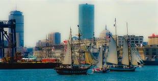 Boston parade of sail. Royalty Free Stock Photos